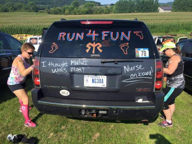 Team Name: Run4Fun. All kinds of good stuff.